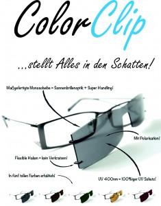 Color-Clip, der maßgefertigte Sonnenbrillenclip für Ihre Brille!
